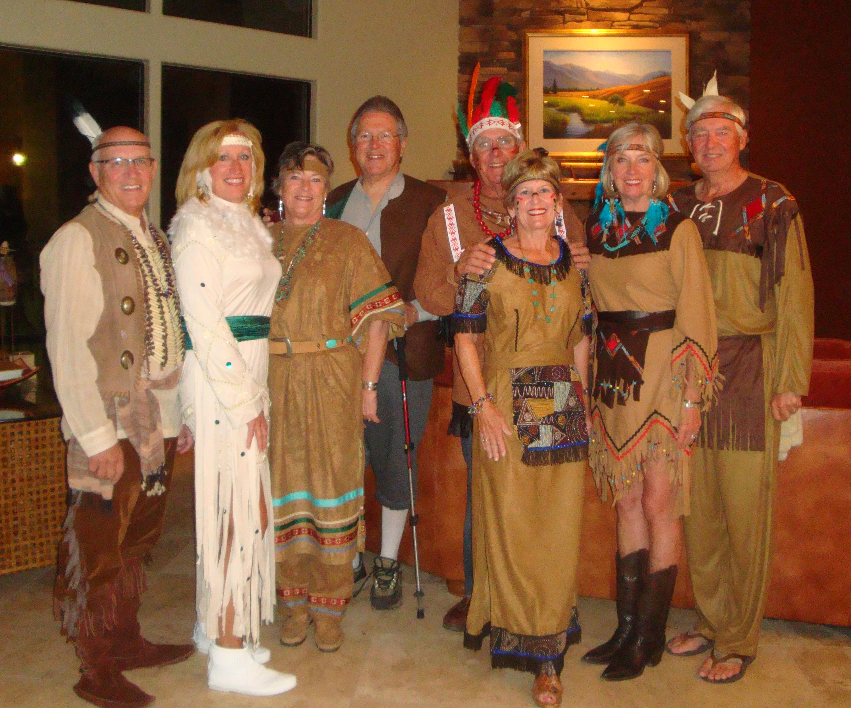 Everyone came in costumeu2026almost everyone in Indian ... & Native American Gourmet Dinner u2013 at Halloween Time   Travels with ...